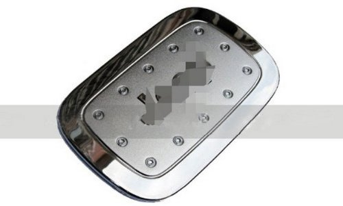 New Stainless Steel Chrome Fuel Door Gas Tank Cap Lid Cover Trim Exterior Fit For 2011 2012 2013 Grand Cherokee