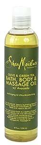 Shea Moisture ORGANIC Olive & Green Tea Bath, Body & Massage Oil 8oz [SEALED]