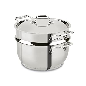 All-Clad E414S564 Stainless Steel Steamer Cookware, 5-Quart, Silver by All-Clad