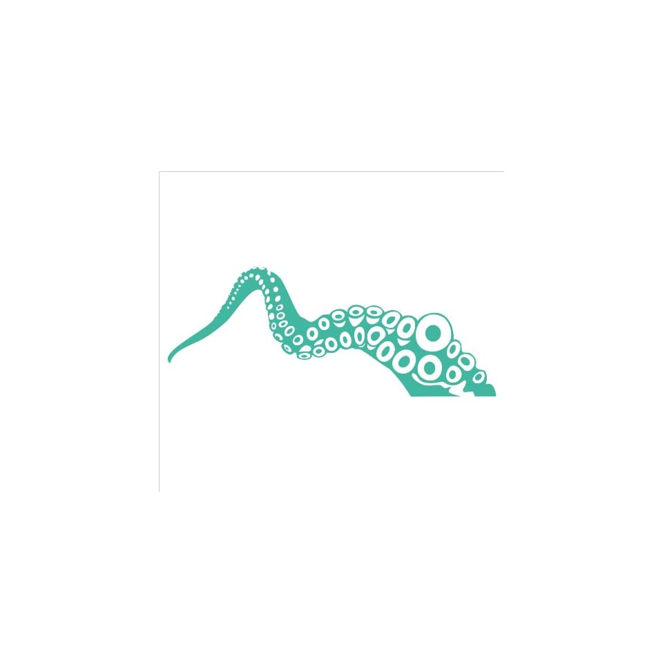 Tentacle Vinyl Die Cut Decal Sticker 8.75 Turquoise