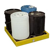 "Dixie Poly BM-SD-1 Polyethylene Mini-Spill Deck, 6 gallon Sump Capacity, 23.5"" Length x 24.5"" Width x 3"" Height"