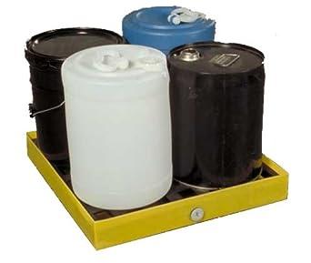 """Dixie Poly BM-SD-1 Polyethylene Mini-Spill Deck, 6 gallon Sump Capacity, 23.5"""" Length x 24.5"""" Width x 3"""" Height"""