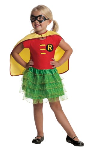 Robin Toddler Costume Tutu Dress Set, Red/Green