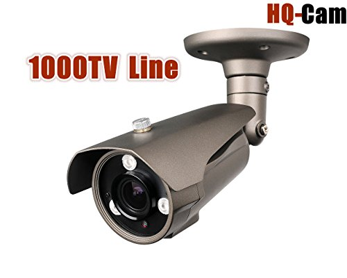 """Hq-Cam® 1000Tv Lines High Resolution Security Outdoor/Indoor Weatherproof Camera 1/3"""" Sony Ex-View Ii Ccd 3Ir Matrix Infared Leds 2.8~ 12Mm Vari-Focal Lens Cctv Day And Night Visionir Distance: 120~150Ft"""