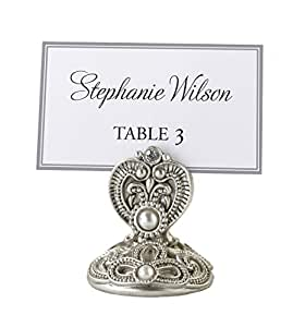 Lillian Rose Regal Elegance Jeweled Place Card Holders, 2-Inch, Set of 4
