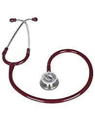 Vkare Dual-Bell Stethoscope - Ultima Duo - Burgundy Colour