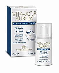 Bottega Di Lungavita Vita- Age Aurum Staminali Project Eye Gel 15ml For Dark Circles & Bags With Ayur Lotion 50 ml
