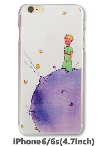 iPhone6 アイフォン 6 星の王子さま Le Petit Prince ハード ケース カバー ホワイトクリア Look up (iPhone6専用(4.7インチ))