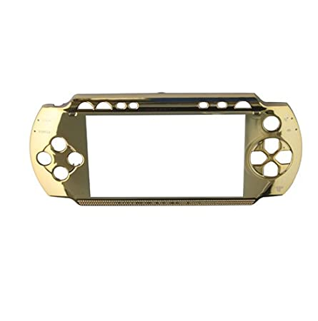 Gold Front Faceplate Face Plate For Sony PSP 1000