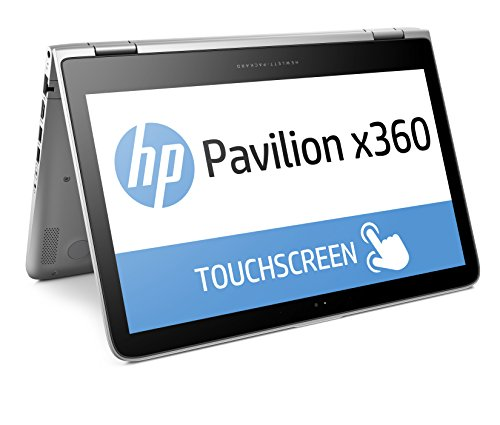"HP Pavilion x360 13-s100nl Notebook Convertibile, 13.3"" Display Touchscreen HD IPS WLED 1366 x 768, Windows 10, Processore Intel Core i3-6100U, RAM 4 GB, Intel Graphics HD, Argento"
