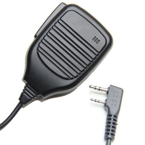 Pro Heavy Duty 2-Pin Shoulder Remote Speaker Mic Microphone Ptt For Kenwood Tk-2170 2200 2202 2212 Two Way Radio Walkie Talkie 2Pin