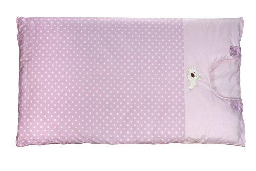 Dele Natural Cotton Anti Kick Sleeping Bags Detachable Sleeping Bag (Double Liner, Pink Dot) front-883662