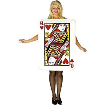 Std Size Adult Queen of Hearts Playing Card Costume