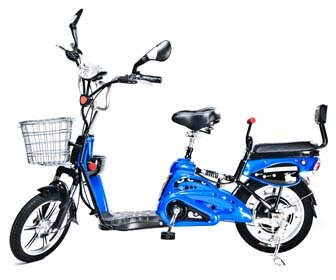 Motor Electric Bicycle x 2 Adult Seats+pedal+battery 20 Mile (Model: Class2) Blue