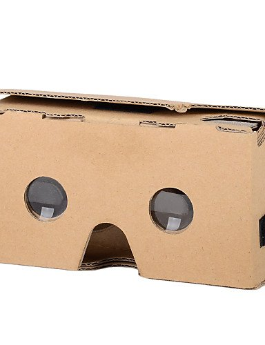 LightsCastle 2015 DIY Cardboard 2 Virtual Reality VR 3D Glasses for NEXUS 6 / IPHONE 6 Plus + More - Brown , 0.3mm