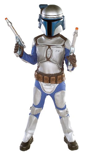 Jango Fett Deluxe Child Costume Silver/Blue Larg