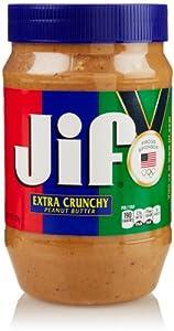 Jif Extra Crunchy Peanut Butter, 40 Oz