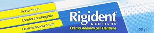 Rigident - Crema Adesiva per Dentiere, Forte Tenuta, Comfort Prolungato, Freschezza Garantita - 50 g