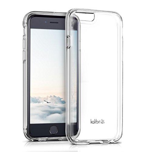kalibri-Crystal-Case-Hlle-Sunny-fr-Apple-iPhone-6-6S-transparente-Kunststoff-Schutzhlle-mit-TPU-Silikon-Rahmen-in-Transparent