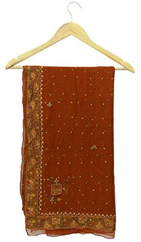 vintage-dupatta-longue-echarpe-indienne-brode-en-mousseline-de-soie-tissu-brown-stole