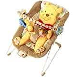 Dynamic Bright Starts Winnie the Pooh Cradling Bouncer - Cleva Edition ChildSAFE Door Stopz Bundle