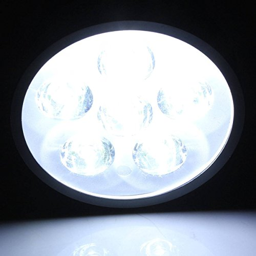 AUDEW 12V 18W LED Moto Phare Conduite Spot Light Feux Anti-brouillard Noir