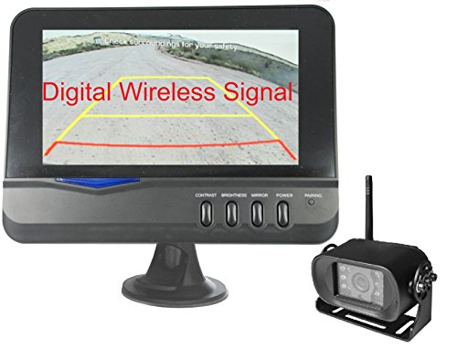 """4Ucam Digital Wireless Camera + 7"""" Monitor for Bus, RV, Trailer, Motor Home, 5th Wheels and Trucks Backup or Rear View"""