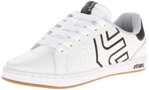 Etnies Mens Fader LS Leather Skateboarding Shoes 4101000416 White/Black/Gum 9 UK, 43 EU, 10 US