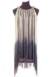 Vikoros Women's 1920s Flapper Deco Swinging Fringe Tassel Dress