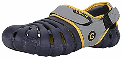 Globalite Men's Blue Grey Synthetic Sandals & Floaters (8903828049737)