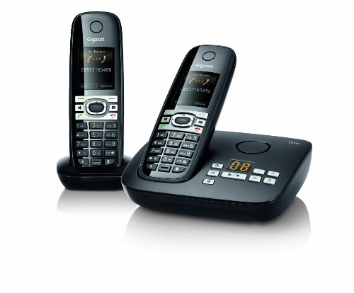 Gigaset C610A Twin DECT Cordless Phone with Answer Machine - Black image