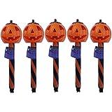 Solar Halloween Pumpkin Stake Light- Pack of 6-