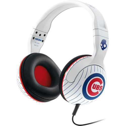 Skullcandy Mlb Hesh 2.0 Chicago Cubs With Mic Sports Collection Wired Headphone - White