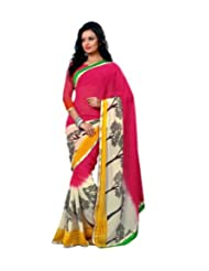 Triveni Flora Inspired Fancy colourful lace Saree 4008b