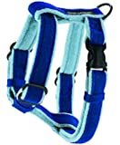 Planet Dog Cozy Hemp Adjustable Harness, Blue, Medium