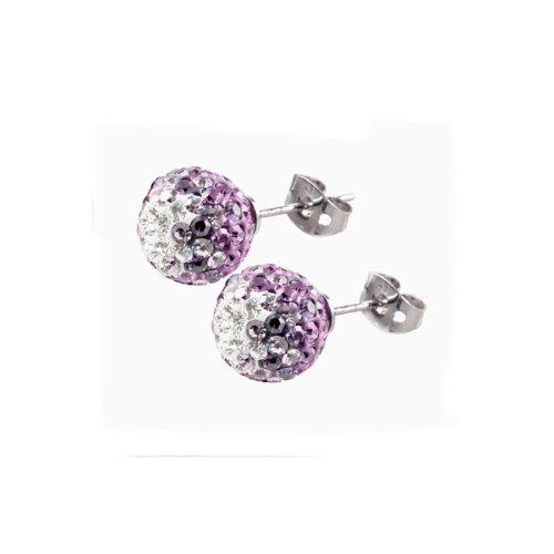 Tresor Paris La Bijude Crystal Earrings 10mm
