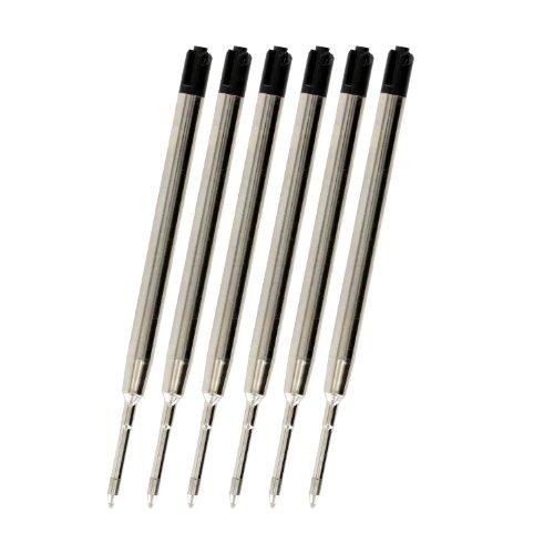 Stylo bille Parker-Recharge Par JinHao, pointe Fine 0,7 mm-Lot de 6-(Noir)
