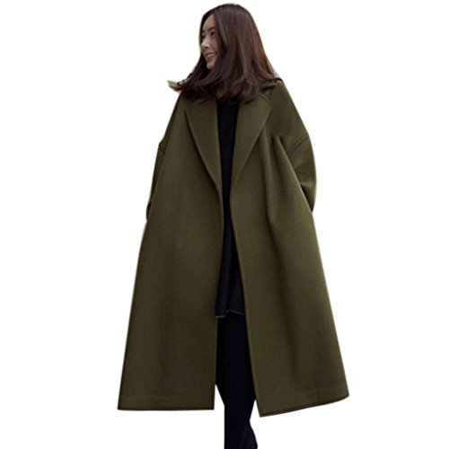 New Fashion Women Lady Winter Warm Long Windbreaker Parka Coat (M, Army Green)