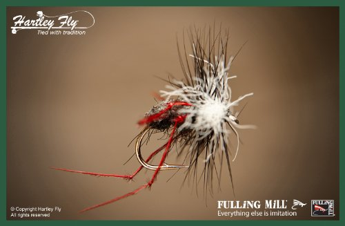 FM1064-S14 Fulling Mill Trout Fliegenfischen Fliegen Flies Aero Red Legs Size 14