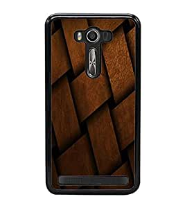 Fuson Premium 2D Back Case Cover Leather design mat With blue Background Degined For Asus Zenfone 2 Laser ZE500KL::Asus Zenfone 2 Laser ZE500KL (5 Inches)
