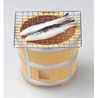 YI--Y-2713 瀬戸焼 七輪焼さんま 蚊取り器 径15 ×高さ 15.5cm