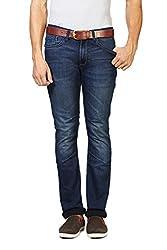 V Dot Men's Formal Trousers (8907445895647_VDDN316D03916_38W x 32L_Dark Blue Solid)