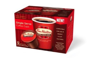 TIM HORTON'S COFFEE K CUPS 72 COUNT (SINGLE SERVE)