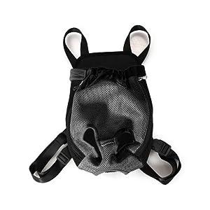 Trasportino marsupio lavabile per cane gatto nero taglia s for Trasportino per cani amazon