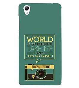 Travel Quote 3D Hard Polycarbonate Designer Back Case Cover for vivo Y51 :: VivoY51L