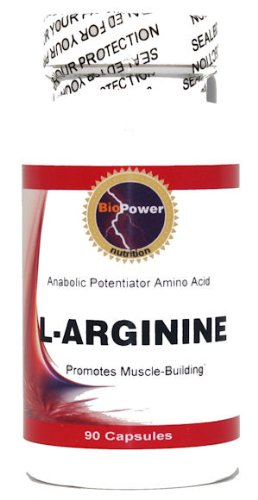 # L-Arginine 500mg Potent Amino Acid Muscle Growth 90 Capsules