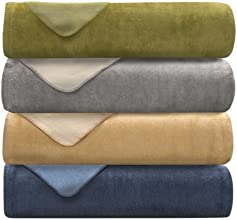 Lacozee - Cotton Blend Reversible Blanket, Variety of Colors