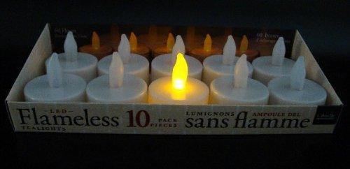 10 LED Teelichter mit Flackereffekt + inklusive Batterien