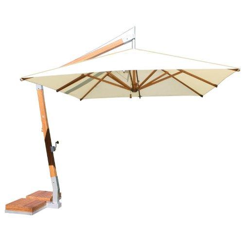 Fancy Bambrella Side Wind u Square Bamboo Cantilever Umbrella Harvest Wheat Canopy