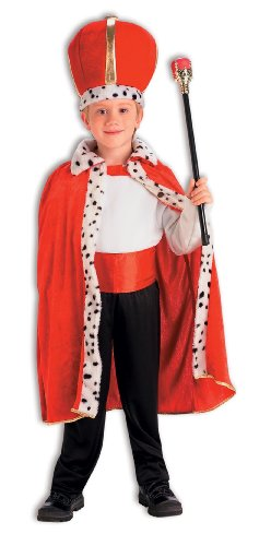 King Robe And Crown Set Child Costume - Kid's Costumes
